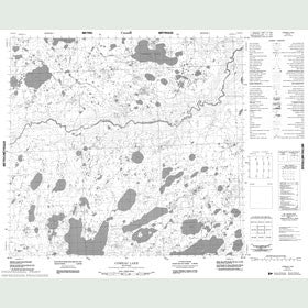 Canadian Topo Map - Comeau Lake - Map 054E12