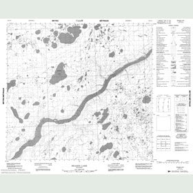 Canadian Topo Map - Braden Lake - Map 054E14