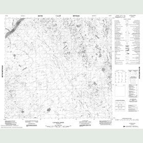 Canadian Topo Map - Laforte Creek - Map 054E15