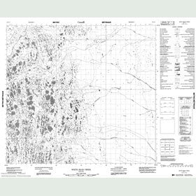Canadian Topo Map - White Bear Creek - Map 054F07
