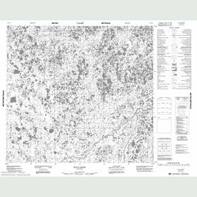 Canadian Topo Map - Hoot Creek - Map 054F12