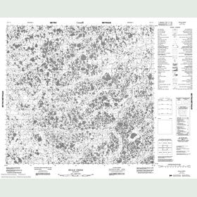 Canadian Topo Map - Beale Creek - Map 054F13