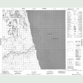 Canadian Topo Map - Owl River - Map 054F15