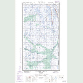 Canadian Topo Map - Kelsey Creek - Map 054K03E