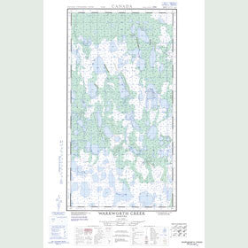 Canadian Topo Map - Warkworth Creek - Map 054K05E