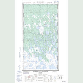 Canadian Topo Map - Warkworth Creek - Map 054K05W