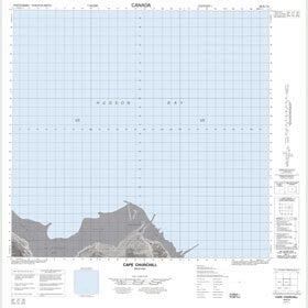 Canadian Topo Map - Cape Churchill - Map 054K14