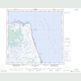 Canadian Topo Map - Cape Churchill - Map 054K