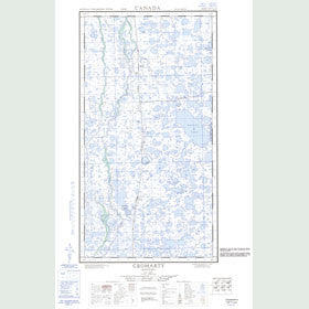 Canadian Topo Map - Cromarty - Map 054L01E