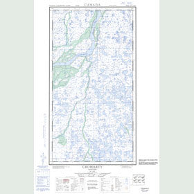 Canadian Topo Map - Cromarty - Map 054L01W