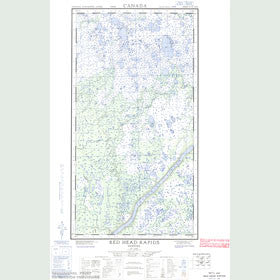 Canadian Topo Map - Red Head Rapids - Map 054L02W