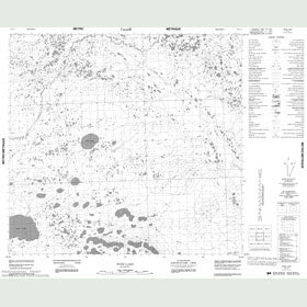 Canadian Topo Map - Wise Lake - Map 054L03