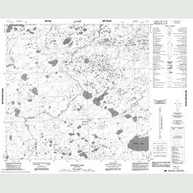 Canadian Topo Map - Knight Lake - Map 054L04