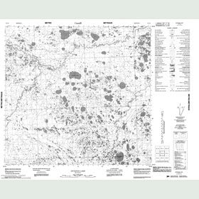Canadian Topo Map - Dickens Lake - Map 054L06