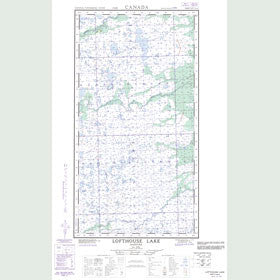 Canadian Topo Map - Lofthouse Lake - Map 054L07E