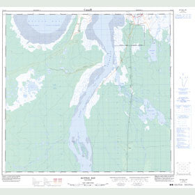 Canadian Topo Map - Button Bay - Map 054L09