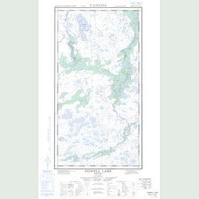 Canadian Topo Map - Nowell Lake - Map 054L10W