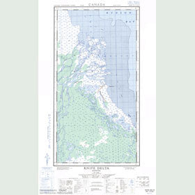 Canadian Topo Map - Knife Delta - Map 054L15E