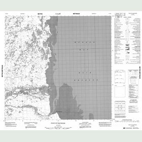 Canadian Topo Map - The Knoll - Map 054M02