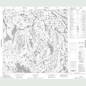 Canadian Topo Map - Gross Lake - Map 054M05