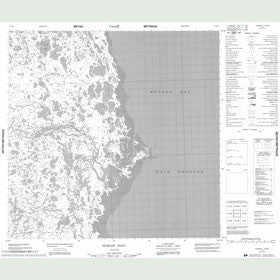 Canadian Topo Map - Hubbart Point - Map 054M07