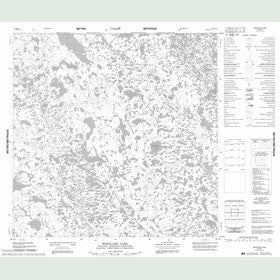 Canadian Topo Map - Mikolash Lake - Map 054M13