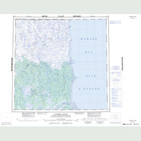 Canadian Topo Map - Caribou River - Map 054M
