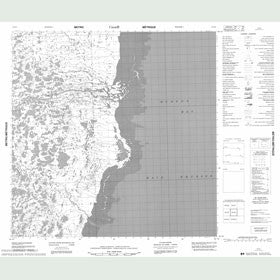 Canadian Topo Map - Map 055D02