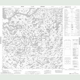 Canadian Topo Map - Map 055D06