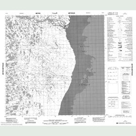 Canadian Topo Map - Map 055D07