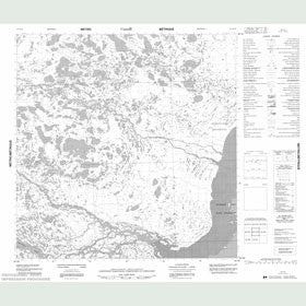 Canadian Topo Map - Tha-Anne River - Map 055D10