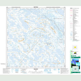 Canadian Topo Map - Map 055D15