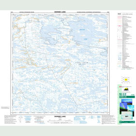 Canadian Topo Map - Dionne Lake - Map 055E02