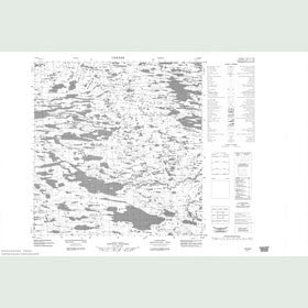 Canadian Topo Map - Map 055E04