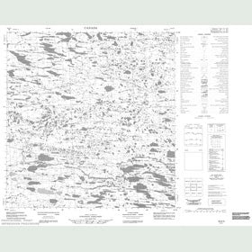 Canadian Topo Map - Map 055E05