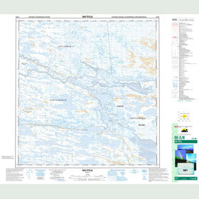 Canadian Topo Map - Map 055E08