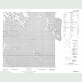 Canadian Topo Map - Mistake Bay - Map 055K02