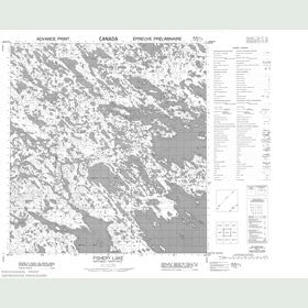 Canadian Topo Map - Fishery Lake - Map 055K03
