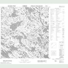 Canadian Topo Map - Map 055K04