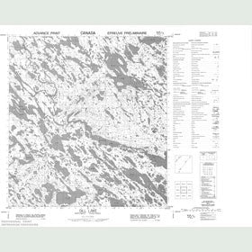 Canadian Topo Map - Gill Lake - Map 055K06