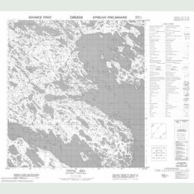 Canadian Topo Map - Pistol Bay - Map 055K07