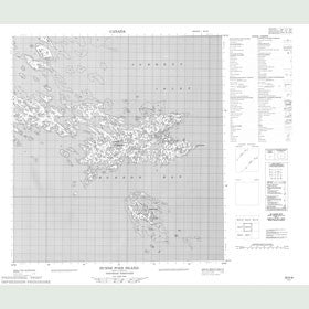 Canadian Topo Map - Dunne Foxe Island - Map 055K08