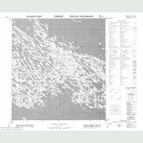 Canadian Topo Map - Pangertot Peninsula - Map 055K09