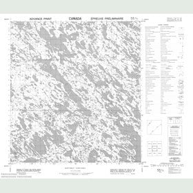 Canadian Topo Map - Map 055K10