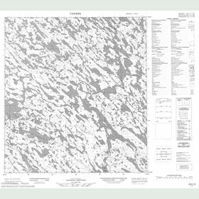 Canadian Topo Map - Map 055K13