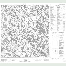 Canadian Topo Map - Map 055K14