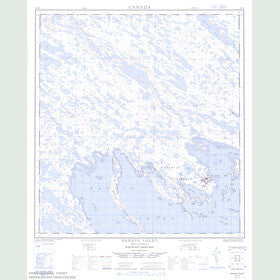 Canadian Topo Map - Rankin Inlet - Map 055K16