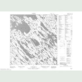 Canadian Topo Map - Map 055L02