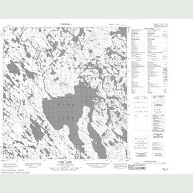 Canadian Topo Map - Carr Lake - Map 055L04