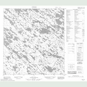 Canadian Topo Map - Map 055L10